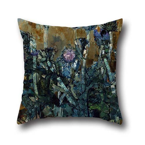 oil painting Jean Pradier - Artichoke Flowers pillow cases ,best for relatives,christmas,car seat,couch,festival,bf 16 x 16 inches / 40 by 40 cm(both sides)