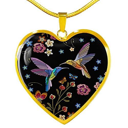 QAQV Collar De Epoxi Para Mujer, Colgante En Forma De Corazón Vintage, Cadena De Serpiente, Regalo De Joyería, Oro