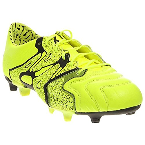 adidas X 15.1 FG/AG Leather (9.5A, Syello/Syello/CBlack)