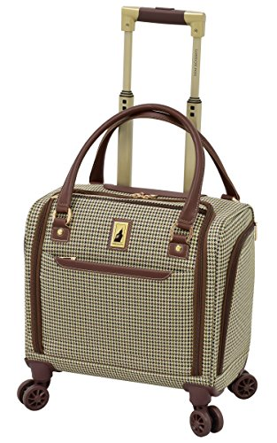 London Fog Cambridge II 15' 8 Wheel Under Seat Bag, Olive Houndstooth