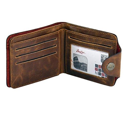 Zuionk Herren Jungen Classic Ledertaschen Kredit/ID Karten Halter Geldbörse Brieftasche Freizeit