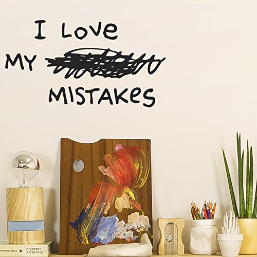 Chispum VIGRA289Le - Wallsticker, design I love my mistakes, 58 x 100 cm