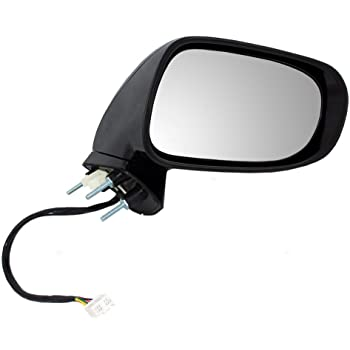 Heated Power Foldaway IS350 Sedan Black w//PTM Cover w//Turn Signal IS200t// IS300 Sedan w//o auto dimming Puddle lamp Fit System Driver Side Mirror for Lexus IS250 Sedan