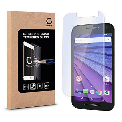 Electr/ónica Rey Protector de Pantalla para Motorola Moto E2 2015 Cristal Vidrio Templado Premium 2ND Gen