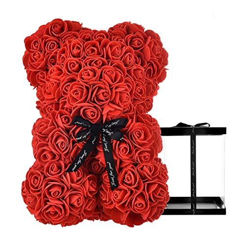 Galaxy Rose Forever Flower with Vase,Rainbow 24k Gold Artificial Flower,Beauty & The Beast Rose,...