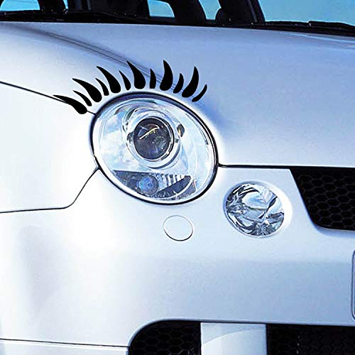 Raptor Hunting Solutions 2X Wimpern Autoaufkleber Stiker-Schwarz,Tuning Auto Aufkleber,Mini Lupo Clio,Vsco Girl Sachen,Auto Wimpern,Aufkleber Auto Frauen