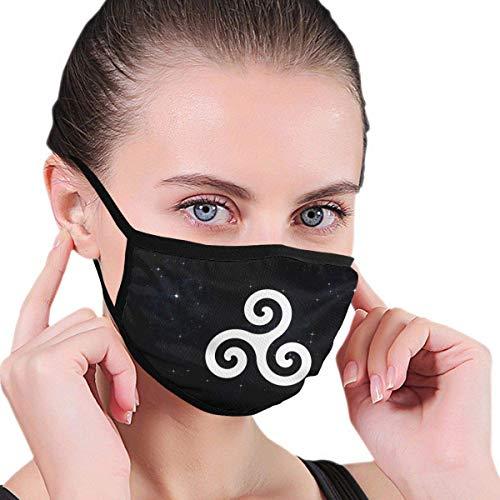 Máscara para Exteriores con símbolo de Triskelion Celta, filtros de carbón Activado Protectores de 5 Capas, pañuelo para Hombres y Mujeres Adultos