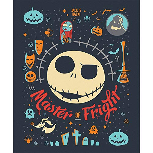 Disney Nightmare Before Christmas Fabric NBC Master of Fright 100% Premium Quality Cotton Fabric by The Panel