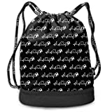 Drawstring Bag For Women Men Motocross Dirt Bike Backpack Sackpack With Shoe Compartment Soccer Basketball Cinch Bag Personalized Candy Sack Party Favors