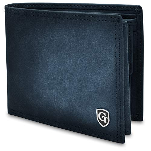 GenTo® BROOKLYN Portafoglio da uomo in formato orizzontale con scomparto per monete - certificato RFID, protezione NFC - portafoglio per uomo - disponibile in 4 colori   Design Germania