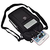 Nylon Outdoor Sports Hiking Cellphone Travel Shoulder Bag Crossbody Pouch for iPhone 6 / 6S Plus/HTC One A9 / M9 / Microsoft Lumia 950 XL (Black/Gray)