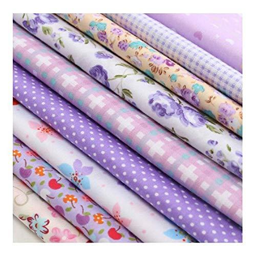 GanYu 9 piezas de patchwork Stoffe algodón artesanía paquete de tela patchwork costura patchwork diferentes patrones de tela DIY scrapbook manualidades