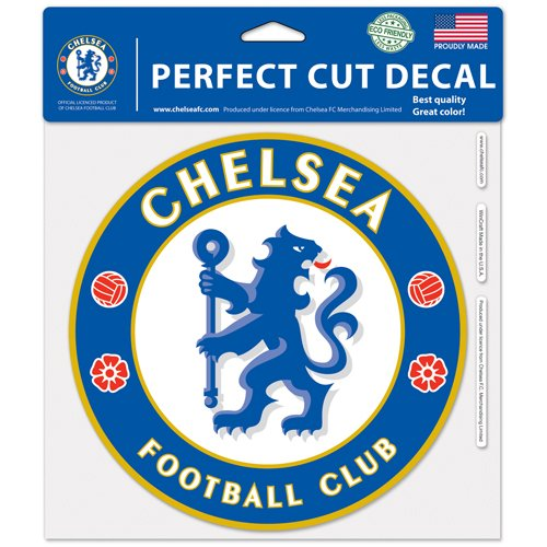 "WinCraft Soccer Chelsea FC 25923014 Perfect Cut Color Decal, 8"" x 8"", Black"