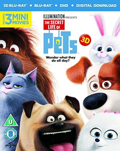 The Secret Life Of Pets (Blu-ray 3D + Blu-ray + Digital Download) [2015] UK-Import, Sprache-Deutsch, Englisch....