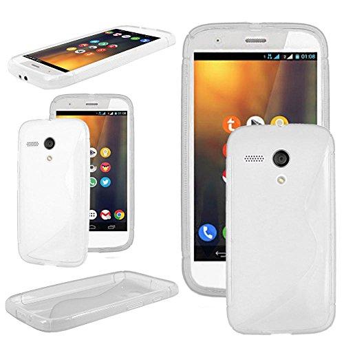 ebestStar - Cover Compatibile con Motorola Moto G, XT1032 Custodia Protezione S-Line Design Silicone Gel TPU Morbida e Sottile, Trasparente [Apparecchio: 129.9 x 65.9 x 11.6mm, 4.5'']