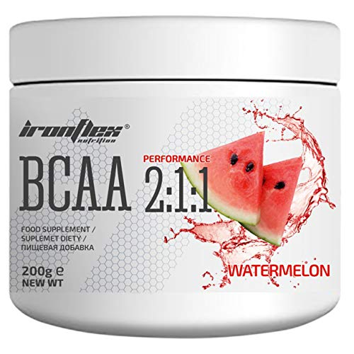 Iron Flex BCAA 2-1-1-1 Pack - Branched Chain Amino Acids in Powder - Muscle Regeneration - Anticatabolic (Watermelon, 200g)