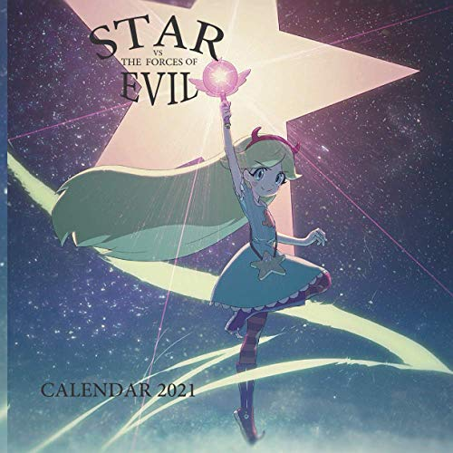 STAR VS THE FORCES OF EVIL: STAR VS THE FORCES OF EVIL WALL CALENDAR 2021 8,5x8,5 FINISH GLOSSY ADULT BIRTHDAY GIFT