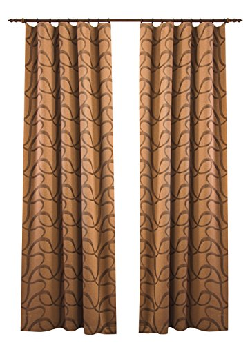 sei Design® Gardinen Empress original SeiDesign für mehr Privatsphäre und Stil, Zwei Schals mit Kräuselband, passend für Tagesdecken-Sets Empress (2X Schals 145x250, Caramel)