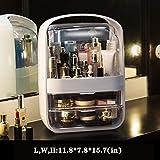 Caja de cosméticos de almacenamiento, a prueba de polvo e impermeable, 2 cajones, conveniente para...