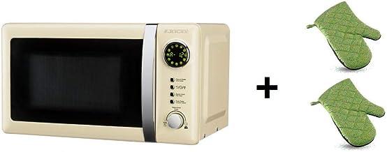 ElectrodomesticosN1 Pack Microondas Jocel JMO001351, 20 Litros, Beige, 800 w + juego 2 manoplas