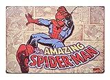 K&H Spiderman Marvel Classic Comic Metal Antique Tin Sign (Spiderman)