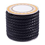 PandaHall - Cordón de cuero trenzado de 4 metros, 5...