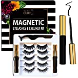 The Belle Cartel Magnetic Eyelashes and Eyeliner Kit | Natural Looking Magnetic Lashes with Liner Set | Magnetic Lashes and Liner | Magnetic Lashes Natural | Natural Lashes (Day to Evening - 5 Pairs)