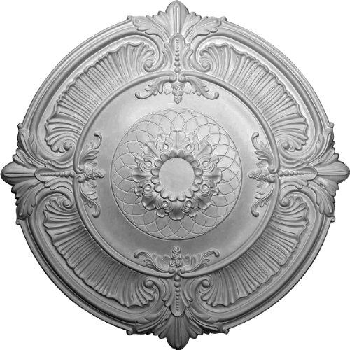 Ekena CM39AT - Medallón de techo, color blanco imprimado (39 1/2 OD x 2 1/2 P)