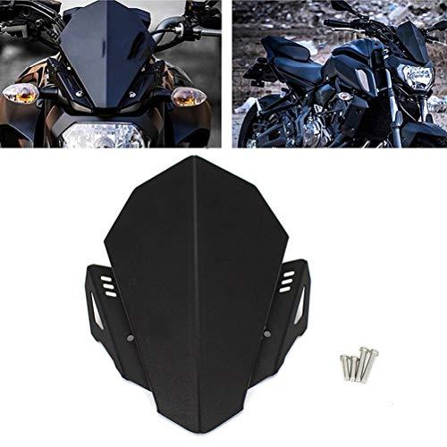 Parabrisas De Motocicleta CNC De Aluminio Parabrisas Kit Deflector Adapta Fit For YAMAHA MT07 MT 07 2018 2019 MT07 FZ07 FZ07 2020 Motocicleta Deflector De Viento Deflector de viento para motocicleta