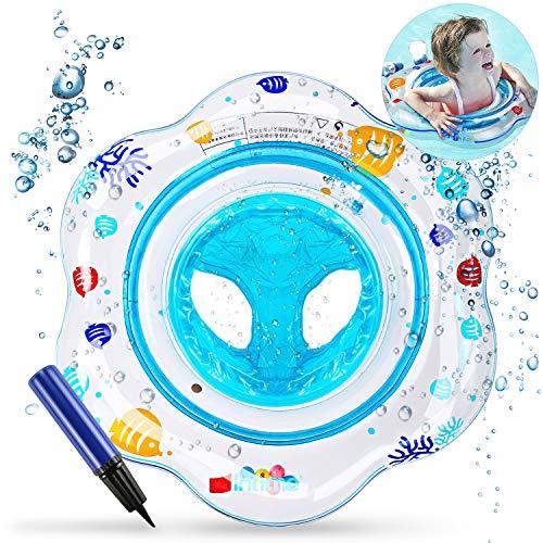 Magicfun Baby Schwimmring, Baby Schwimmhilfe Baby Schwimmen Ring, Kleinkind Kinder Schwimmreifen Schwimmbad Schwimmring Aufblasbarer Kinder Schwimmring für Baby (Bleu)
