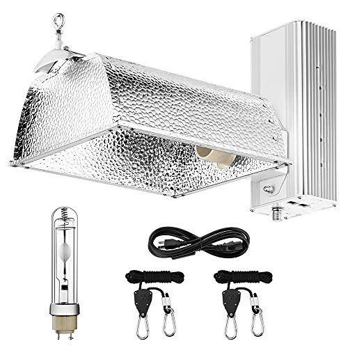 OPULENT SYSTEMS Horticultural 315W CMH CDM Grow Light 98% Reflectivity Reflector Fixtures with 120-240V Electronic Dimmable Ballast, UL Listed and 315W CMH 4000K Bulb for Indoor Growing
