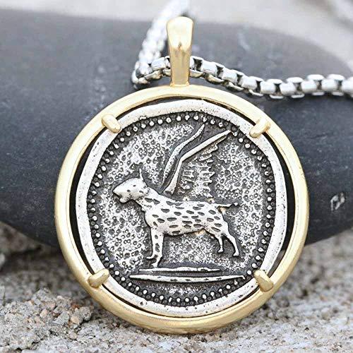 xtszlfj Collar de Bull Terrier, Perro Mascota, Colgante Encantador con Estampado de Pata Conmemorativa, joyería para Amantes de los Animales
