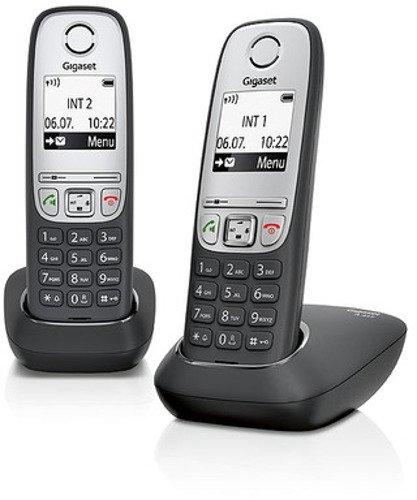Gigaset A415 Duo 2 Schnurlose Handye ohne Anrufbeantworter (DECT Handy mit Freisprechfunktion, Grafik Bildschirm & leichter Bedienung) schwarz