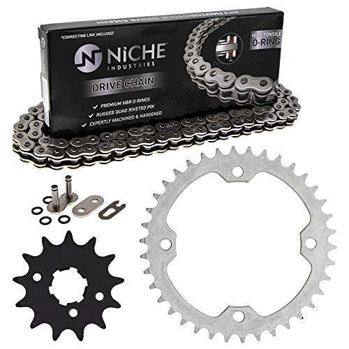 NICHE Drive Sprocket Chain Combo for Yamaha Raptor 350 Raptor 350SE Front 13 Rear 38 Tooth 520V O-Ring 98 Links