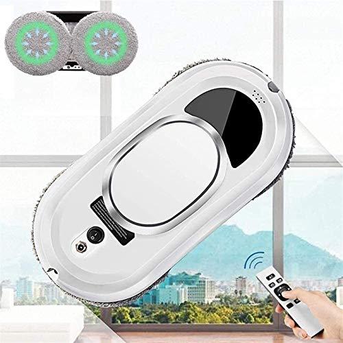 ZGHTD Robot Inteligente de Limpieza de Ventanas con Control Remoto Y Detección de Bordes, para la Limpieza de Vidrios, Robot Robótico de Aspiración por Lavadora