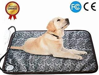 RIOGOO Pet Heating Pad Large, Dog Cat Electric Heating Pad Indoor Waterproof Adjustable Warming Mat with Chew Resistant Steel Cord