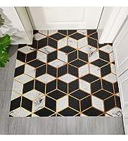MDCG ヨーロピアンスタイルカーペット幾何学パターンカーペットDeslimingノンスリップ家庭用フットパッドのドアマットを切り抜くことができます (Color : B, Size : 100x120cm)