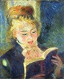 AMANUO Renoir Impresiones Pinturas Famosas sobre Lienzo Humanas 50X60 cm Cuadros Enrollada - El Liseuse