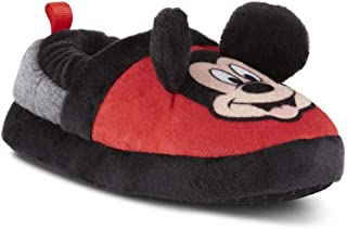 Disney Toddler Boys Classic Mickey Mouse Red Black House Slipper