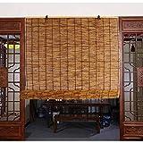 WYCD Persianas de Caña Natural, Persiana Enrollable de Bambú, Parasol Impermeable, Hecho a Mano/Anticorrosivo, Persianas para Exteriores/Interiores