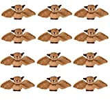 Wildlife Tree 12 Pack Bats Mini 4 Inch Small Stuffed Animals, Bulk Bundle Zoo Animal Toys, Forest Party Favors for Kids