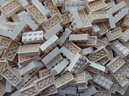 LEGO Bricks: White 2x4. Part 3001 (X 25) by LEGO