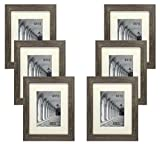 Studio 500 Distressed Grey Picture Frames from Our Distressed Collection (MDF2915) Grey, 6-Pack, Comes in Different Sizes (8x10)