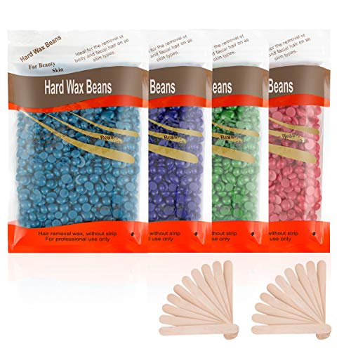 Hard Wax Beads for Hair Removal, 400g/14.11 oz Waxing Beans for Full Body Brazilian Bikini Face Legs Underarms, at Home Pearl Beads Large Refill for Women Men (Coarse Body Hair Specific)