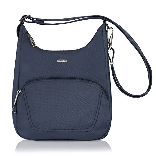 Travelon Anti-Theft Classic Essential Messenger Bag (One Size, Blue - Exclusive Color)