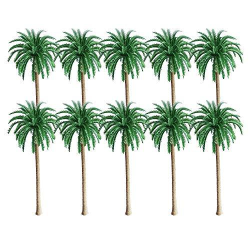 10 st modell kokosnöt palmer, landskapsmodellträd, layout regnskog plast palmträd diorama landskap, grön modell kokosnöt palmer, för gör-det-själv landskap naturgrön ?13 cm?