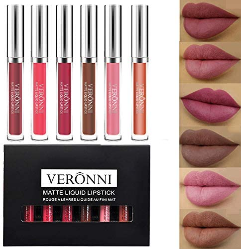 Matte Liquid Lipstick Set 6 Pcs Lip Gloss Birthday Collection Non Fade Velvet Waterproof Long product image