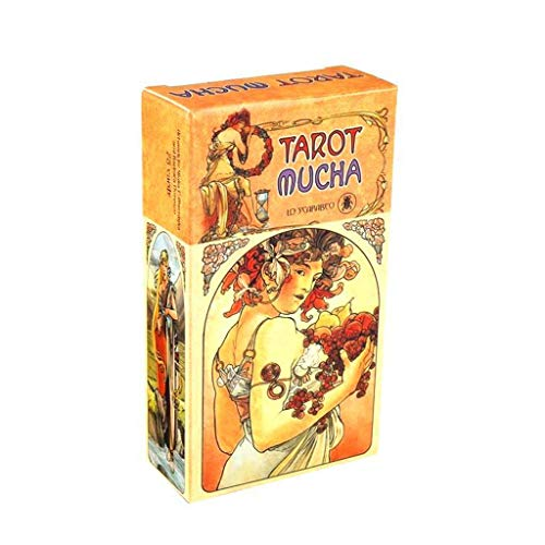 Dalin 78 englische Tarot-Mucha-Karten Deck, Wahrsagung, Orakel-Karte, lustiges Familienspiel