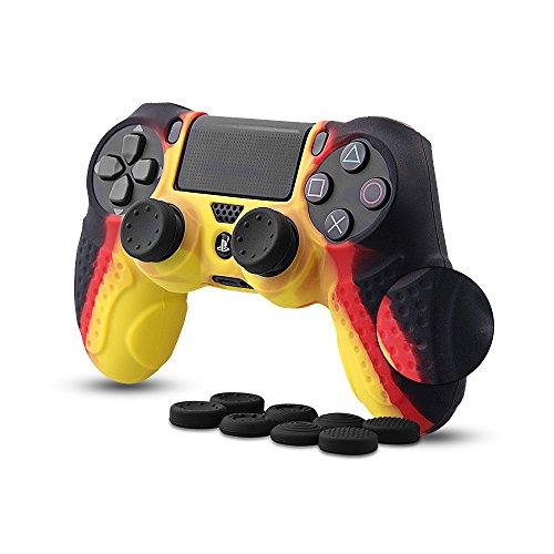 CHIN FAI PS4 Controlador Piel Cubierta de la Caja con 8 agarres de Pulgar, Antideslizante Piel de Silicona Protector de Tapa Caso de la Cubierta para Sony PS4 / Slim/Pro Controlador