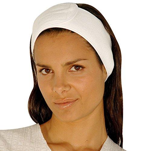 Appearus Terry Spa Headband - Facial Headbands with Hook & Loop Closure (5 Count/AH1005x5)